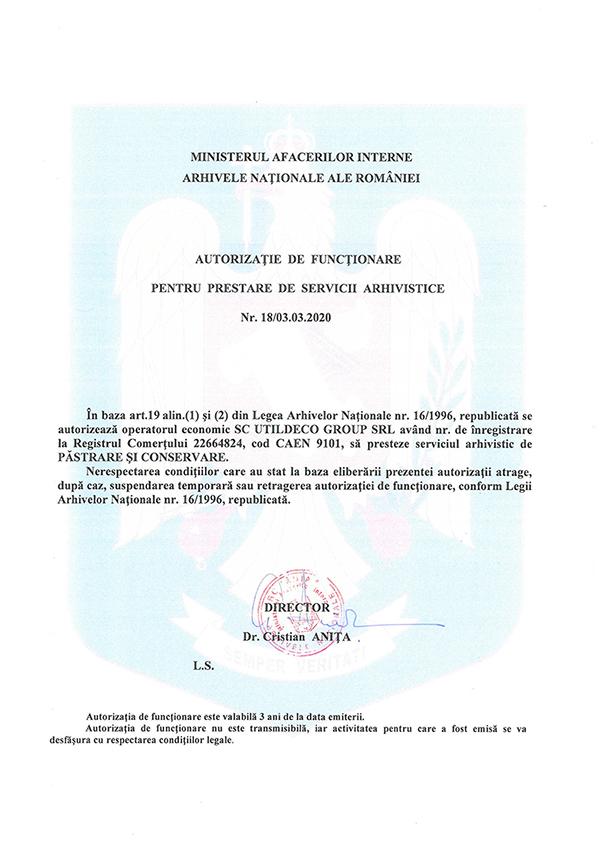 arhivare documente autorizatie 3