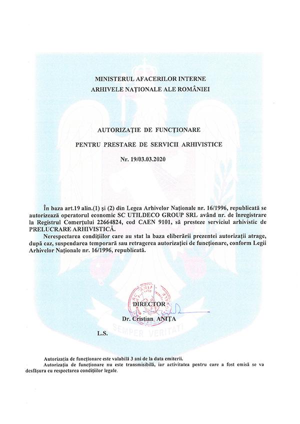 arhivare documente autorizatie 2